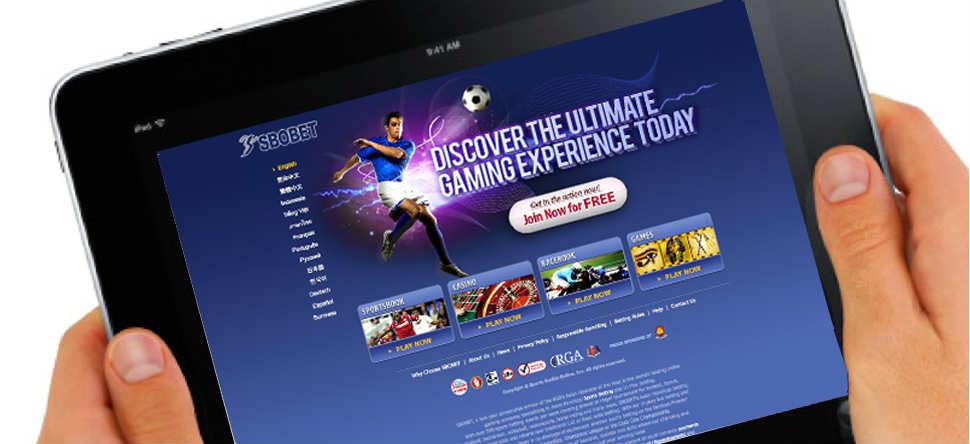Tampilan situs agen resmi judi sbobet online versi aplikasi mobile